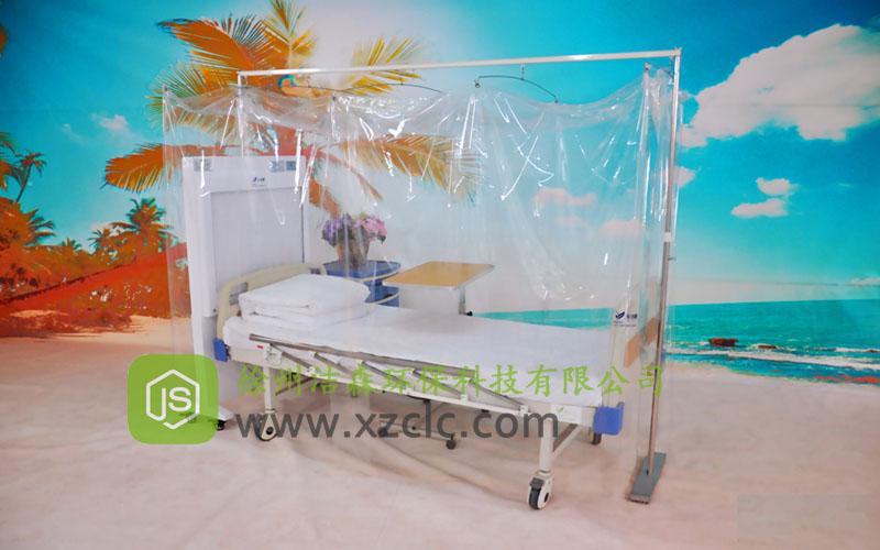 层流床罩单人无菌室移动层流消毒罩JS-B2型单直轨支架款,层流床价格优惠