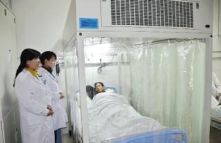 南京市江宁医院血液科引进两台层流床应用于化疗后粒缺伴感染患者