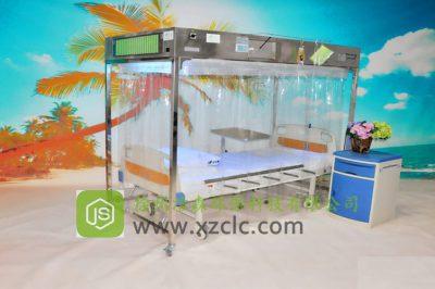 单人无菌室-JS-V1型经济不锈钢板款层流床消毒罩